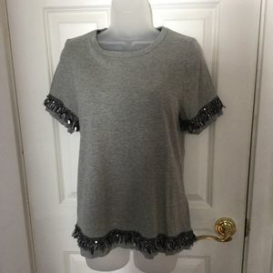 Banana Republic Sequin Fringe Tee